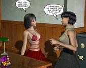 [XL-3D] Shemale teacher seduces a student