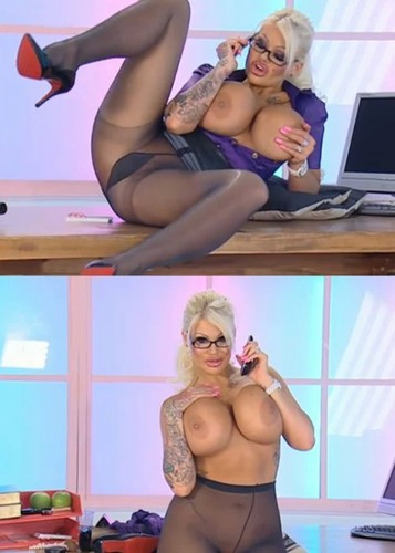 Candy Charms – Call on Busty Blonde  in pantyhose