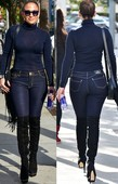 Jennifer Lopez Vaqueros Ajustados Con Botas Altas Por Delante Y Por Detrás