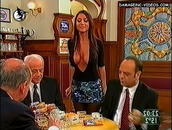 Natalia Fassi bends over tos how her boobs