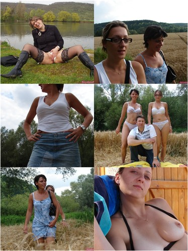Bisexual Wives Having Passionate Sex Outdoors