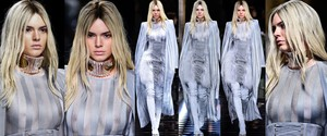 Kendall Jenner - Transparencias Tetas, Paris Fashion Week